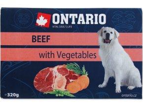 Vanička ONTARIO Dog Beef with Vegetable 320g