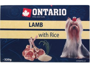 Vanička ONTARIO Dog Lamb with Rice 320g