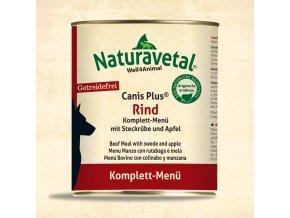 Naturavetal CanisPlus Komplett MenueRind 820g