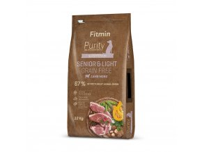 fitmin dog purity gf senior light lamb 12 kg h L