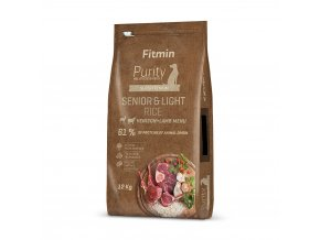 fitmin dog purity rice senior light venison lamb 12 kg h L