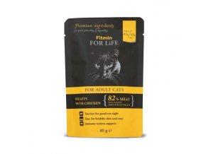 Fitmin for Life masová kapsička pro kočky Adult Chicken 85 g