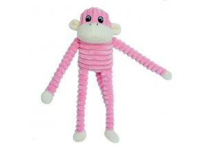 ZippyPaws Spencer - Opice růžová Small
