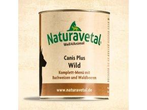 Naturavetal Canis Plus konzerva Divočina s pohankou a lesními plody