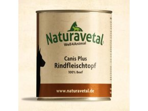 Naturavetal Canis Plus konzerva Hovězí maso