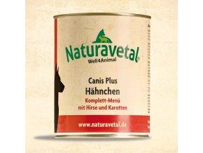 Naturavetal Canis Plus konzerva Kuřecí maso s prosem a karotkou