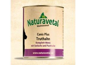 Naturavetal Canis Plus konzerva Krůtí maso s lososem a pastiňákem