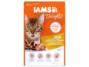 Kapsička IAMS Cat Delights Chicken & Turkey in Gravy 85g