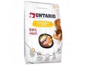 ONTARIO Cat Exigent pro vybíravé kočky 0,4kg
