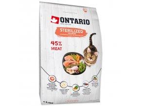 ONTARIO Cat Sterilised Salmon pro sterilizované dospělé kočky losos 6,5kg