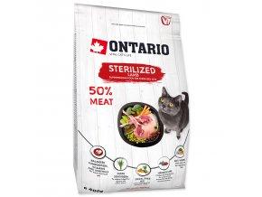 ONTARIO Cat Sterilised Lamb pro sterilizované dospělé kočky jehněčí 0,4kg