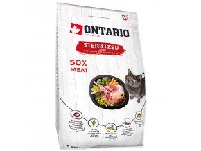 ONTARIO Cat Sterilised Lamb pro sterilizované dospělé kočky jehněčí 2kg