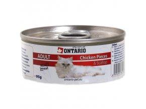 Konzerva ONTARIO Cat kuřecí kousky, mušle 95g