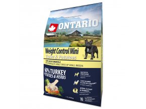 ONTARIO Dog Mini Weight Control Turkey & Potatoes 2,25kg
