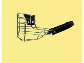 Náhubek kovový Knírač malý - pes, chrom 85 x 95 x 70 mm
