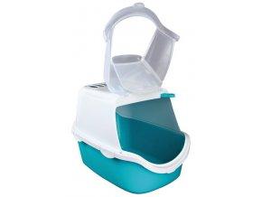 WC VICO kryté s dvířky a filtrem, EASY CLEAN 56x40x40cm,  - tyrkysovo/bílé