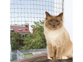 Ochranná síť pro kočky, tkaný drát, olivová 4x3m
