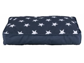 Obdelníkový polštář STARS 70 x 50 tmavě modrý s hvězdami