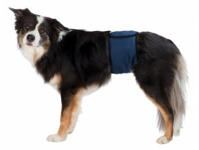 Břišní pás na podložky pro psa samce M 45-55 cm tmavě modrý