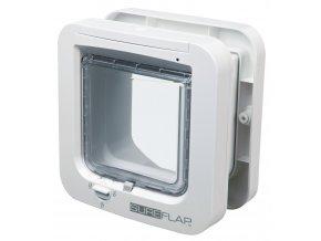 SureFlap DUAL SCAN 4-cestná dvířka na mikročip 21x21 cm,  - bílé