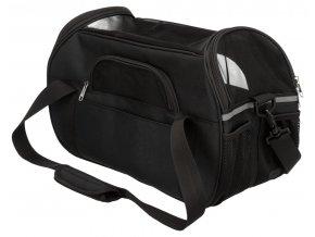 Cestovní taška ETHAN 19 x 28 x 42 cm, nylonová černá
