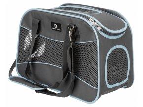 Transportní taška Alison, 20x29x43cm, šedá/modrá