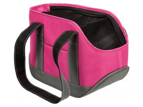 Transportní taška Alea, mini plemena, 16x20x30, růžová/šedá