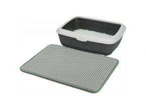 Podložka před kočičí WC, EVA, 40x55cm, šedá