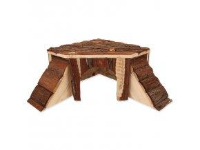 Dřevěný domek rohový 25x25x15cm