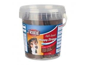 Soft Snack Happy Stripes - hovězí pásky, kyblík 500 g