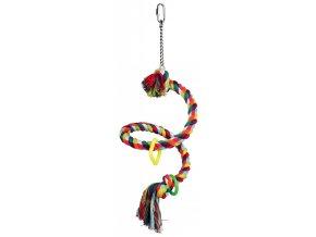 Houpačka bavlněné lano spirála 50 cm
