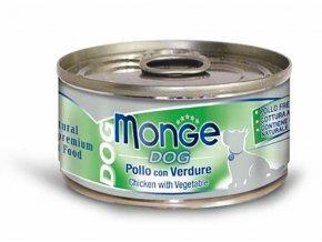 MONGE DOG NATURAL kuřecí maso se zeleninou pro psy 95 g