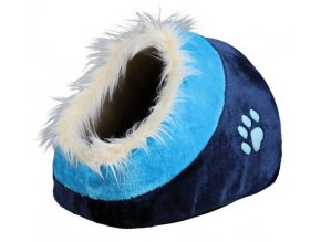 Pelíšek koule MINOU č.1  35x26x41cm,  - tmavě modrá/modrá