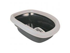 WC pro kočky CARLO 1 31x14x43cm šedá