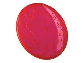 Létající talíř velký 22 cm, termoplast.guma TPR, robustní