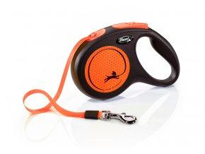 Vodítko FLEXI New Neon páska oranžové M - 5 m 1ks