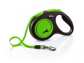 Vodítko FLEXI New Neon páska zelené M - 5 m 1ks
