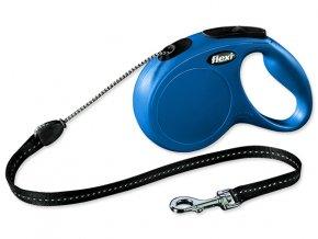 Vodítko FLEXI Classic New lanko modré M - 5 m 1ks