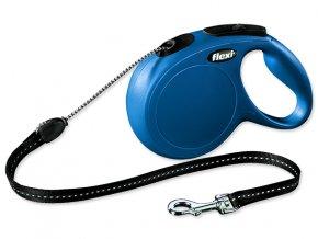 Vodítko FLEXI Classic New lanko modré M - 8 m 1ks