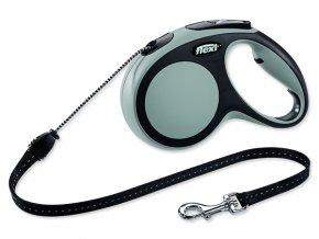 Vodítko FLEXI Comfort New lanko šedé M - 5 m 1ks