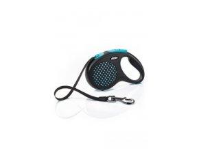 Vodítko FLEXI Design M pásek 5m/25kg modrá