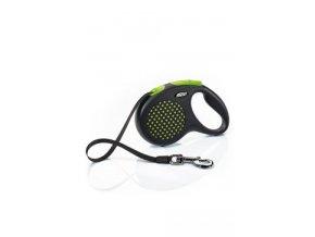 Vodítko FLEXI Design M pásek 5m/25kg zelená