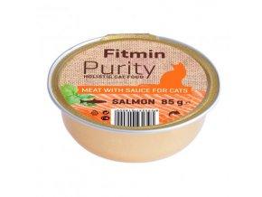 Fitmin Purity Losos ve vývaru pro kočky 85 g
