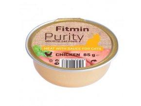 Fitmin Purity Kuřecí maso ve vývaru pro kočky 85 g