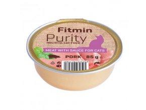 Fitmin Purity Vepřové maso ve vývaru pro kočky 85 g