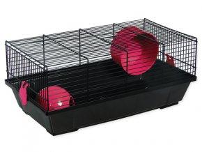 Klec SMALL ANIMALS Viktor černá s oranžovou výbavou 1ks