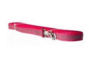 Stopovací šňůra popruh pogumovaná 3m x 2cm růžová