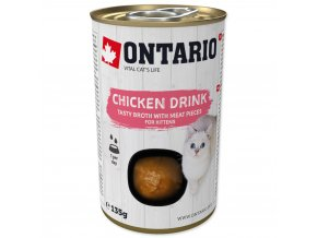 ONTARIO Kitten Drink Chicken nápoj s kousky kuřete 135g