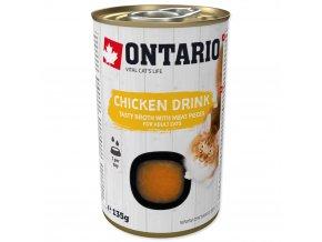 ONTARIO Cat Drink Chicken nápoj s kousky kuřete 135g