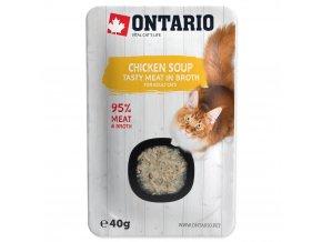 ONTARIO Cat Soup Chicken with vegetables polévka s kuřecími kousky a zeleninou 40g